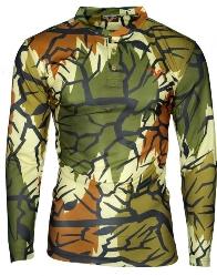 Predator Camo Light Poly Henley Shirt